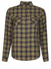 Рубашка в клетку с карманами oodji #SECTION_NAME# (зеленый), 11400433-1/43223/7952C