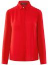 Блузка базовая из струящейся ткани oodji #SECTION_NAME# (красный), 11400368-8B/48854/4500N