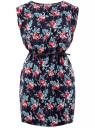 Платье вискозное без рукавов oodji #SECTION_NAME# (синий), 11910073B/26346/7941F