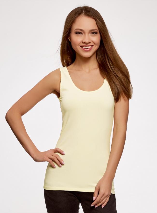 Майка женская oodji для женщины (желтый), 24315001B/46147/5000N