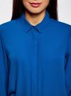 Блузка из струящейся ткани oodji #SECTION_NAME# (синий), 11400368-3/32823/7500N - вид 4