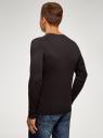 Пуловер базовый с V-образным вырезом oodji #SECTION_NAME# (коричневый), 4B212007M-1/34390N/3900M - вид 3