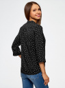Блузка вискозная с регулировкой длины рукава oodji #SECTION_NAME# (черный), 11403225-3B/26346/2912G - вид 3