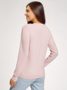 Джемпер с вышивкой oodji для женщины (розовый), 63812567-3/49706/4019Z