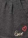 Шорты хлопковые с надписью oodji для женщины (серый), 59807049/47969/2500P