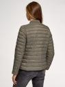 Куртка стеганая с воротником-стойкой oodji для женщины (зеленый), 10203094/33445/6800N
