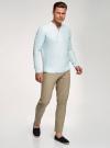Рубашка льняная без воротника oodji #SECTION_NAME# (зеленый), 3B320002M/21155N/6000N - вид 6