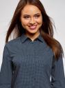 Рубашка хлопковая с нагрудным карманом  oodji #SECTION_NAME# (синий), 13K03013-1/36217/7910D - вид 4
