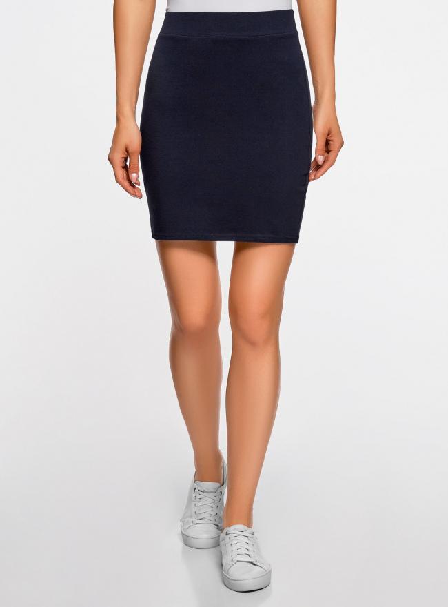 Комплект трикотажных юбок (2 штуки) oodji для женщины (синий), 14101001T2/46159/7900N