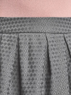 Юбка расклешенная с мягкими складками oodji #SECTION_NAME# (серый), 11600388-2/46140/2529D - вид 4
