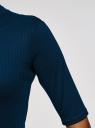 Водолазка трикотажная с рукавом до локтя oodji для женщины (синий), 15E01002-2/46464/7901N