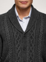Кардиган фактурной вязки с пуговицами oodji #SECTION_NAME# (серый), 4L605052M/25365N/2300N - вид 4