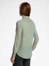 Рубашка хлопковая свободного силуэта oodji #SECTION_NAME# (зеленый), 11411101B/45561/6000N - вид 3