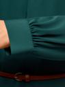 Платье из струящейся ткани с ремнем oodji для женщины (зеленый), 11911030/43414/6E00N