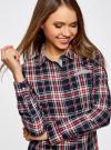 Рубашка принтованная хлопковая oodji #SECTION_NAME# (синий), 11406019/43593/7912C - вид 4
