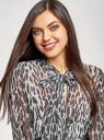Платье шифоновое с асимметричным низом oodji #SECTION_NAME# (серый), 11913032/38375/2029A - вид 4