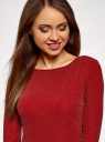 Платье обтягивающее из блестящей ткани oodji #SECTION_NAME# (красный), 14000165-1/46124/4500X - вид 4