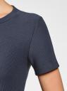 Платье трикотажное с коротким рукавом oodji #SECTION_NAME# (синий), 14011007/45262/7900N - вид 5