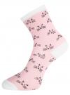 Комплект из трех пар носков oodji #SECTION_NAME# (разноцветный), 57102802-1T3/49668/4 - вид 4