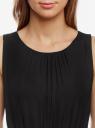 Платье макси с резинкой на талии и завязками oodji для женщины (черный), 21900323-1/42873/2900N