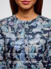 Куртка стеганая с круглым вырезом oodji для женщины (синий), 10204040-1B/42257/7973E - вид 4
