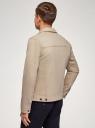 Куртка джинсовая на пуговицах oodji #SECTION_NAME# (бежевый), 6L300011M/35771/3300W - вид 3