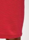 Юбка-карандаш базовая oodji для женщины (красный), 14101099-2B/49934/4500N