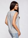 Блузка с короткими рукавами и нагрудными карманами oodji #SECTION_NAME# (белый), 21412132-2B/24681/1229G - вид 3