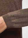 Кардиган удлиненный без застежки oodji #SECTION_NAME# (коричневый), 63212505B/18239/3900M - вид 5