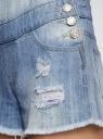 Комбинезон джинсовый с модными потертостями oodji #SECTION_NAME# (синий), 13109058/42559/7000W - вид 5