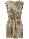 Платье вискозное без рукавов oodji #SECTION_NAME# (зеленый), 11910073B/26346/6645O