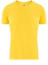 Футболка базовая приталенная oodji #SECTION_NAME# (желтый), 5B611004M/46737N/5203N