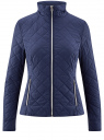 Куртка стеганая с воротником-стойкой oodji #SECTION_NAME# (синий), 10204051/33744/7900N