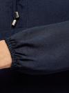 Блузка с кружевными вставками oodji для женщины (синий), 21401400M/31427/7900N - вид 5