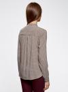 Блузка из вискозы принтованная с воротником-стойкой oodji #SECTION_NAME# (бежевый), 21411063-2/26346/3337G - вид 3
