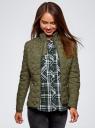Куртка стеганая с воротником-стойкой oodji #SECTION_NAME# (зеленый), 18304009-2B/48327/6800B - вид 2