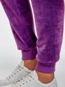 Брюки спортивные на завязках oodji #SECTION_NAME# (фиолетовый), 16701051B/47883/8000N - вид 5