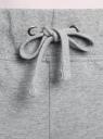 Брюки трикотажные спортивные oodji для женщины (серый), 16700030-15B/46173/2300M