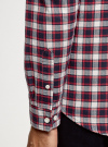 Рубашка хлопковая с нагрудным карманом oodji #SECTION_NAME# (красный), 3L310187M/49364N/7945C - вид 5