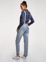 Комбинезон джинсовый с отделкой в стиле пэчворк oodji #SECTION_NAME# (синий), 13108002-1/45254/7000W - вид 3
