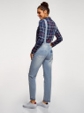 Комбинезон джинсовый с отделкой в стиле пэчворк oodji для женщины (синий), 13108002-1/45254/7000W