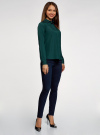 Блузка с декором на воротнике oodji #SECTION_NAME# (зеленый), 11403172-3/31427/6900N - вид 6