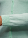 Кардиган вязаный с круглым вырезом oodji для женщины (зеленый), 63212568B/45576/6500N