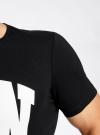 Футболка прямого силуэта с принтом oodji #SECTION_NAME# (черный), 5L611330M/39496N/2910P - вид 5