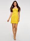 Платье хлопковое со сборками на груди oodji #SECTION_NAME# (желтый), 11902047-2B/14885/5100N - вид 2