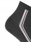 Комплект из шести пар носков oodji #SECTION_NAME# (серый), 57102708T6/48300/9 - вид 3