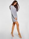 Платье хлопковое на кулиске oodji для женщины (серый), 59801013-6/47970/2041Z