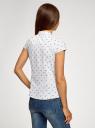 Рубашка с воротником-стойкой и коротким рукавом реглан oodji #SECTION_NAME# (белый), 13K03006B/26357/1029O - вид 3