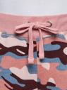 Брюки трикотажные на завязках oodji #SECTION_NAME# (розовый), 16701042-1/46919/2354O - вид 4