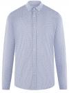 Рубашка приталенная с пуговицами на воротнике oodji #SECTION_NAME# (синий), 3L110256M/46247N/1075C